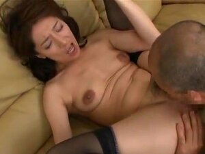Marina Matsumoto hot mature Asian babe fucks older guy. Marina Matsumoto is an amazing hot mature Asian babe in sexy stockings. Her older guy is all over her nice body with his hands and mouth to stimulate her juices. She swallows his cock in a blowjob before she mounts him for a deep penetrating cock ride!