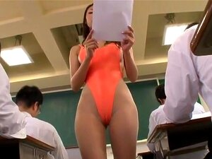 Education Reform, The strangest teacher you will ever see. Sexy mature Reiko Kobayakawa does not dress like a teacher, but wears a high cut transparent bikini to teach in her classes, which makes her students extremely horny.