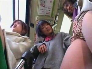 เลสเบี้ยนญี่ปุ่นสนุกบนรถบัส