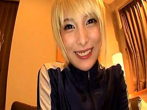 Asian babe Mihono  gets off with hunk guy and gets to handjob