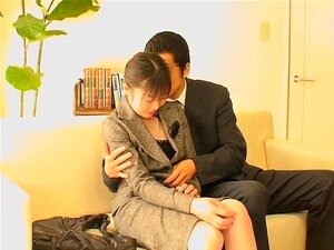 Boss fucking his secretary's wet cunt in japanese sex movie, Japanese secretaries are naughty and they happily agree to have their wet cunts plugged by their bosses. In this spy cam movie with fuck scenes a lady's bun is drilled by a hard peter until climax.