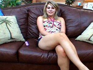 Erotic Masturbation On Couch