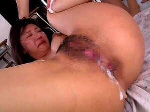 Miho Ichiki gets gangbang with her students 3