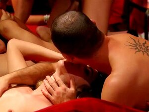 Swinger couple fully enjoys taking part in this big org