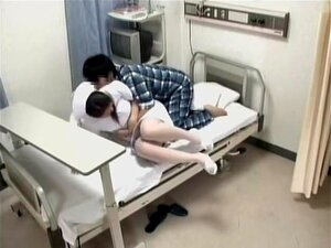Awesome nurse screwed by her patient in voyeur medical video, Awesome looking Japanese nurse gets screwed hard by her nuts patient in this incredible hidden cam Japanese hardcore video and it looks rather incredible. Still, she is smoking hot.