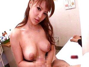 Kaera Uehara wanking cock