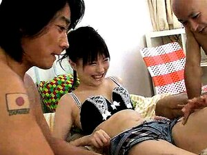 Horny Japan babe Rika Sonohara gets small tits massaged and