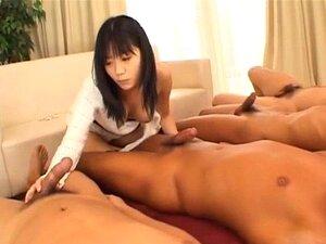 Saya Misaki sucks dongs and welcomes them in her hairy