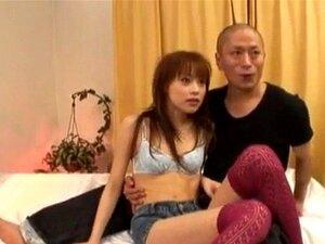 Miina Yoshihara licks cocks and gets them between legs