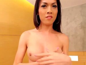 Asian shemale gets bang with 12inch dick