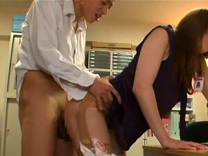 Akiho Yoshizawa getting fucked at the office. Naughty Japanese babe Akiho Yoshizawa gets teased and seduced by her horny boss while at work. Sweetie gets teased into having her tight vag licked well before having her boss