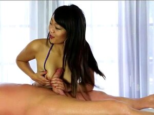Japanese masseuse Miko Dai fucked on top of her clients cock. Japanese masseuse Miko Dai fucked on top of her clients cock after giving him a nice sloppy blowjob under the massage table