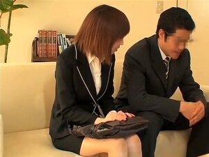 Amaterasu comes for an interview and is fucked by asian rod, Amaterasu wanted to be hired as a secretary so she went for a job interview but she had no idea that in the office there were spy cams. In this japanese sex movie her wet cunt is drilled on the couch.