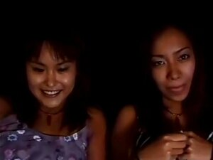Lovely Japanese babes enjoying Sapphic kisses, Adorable and playful Japanese girls are enjoying some hot Sapphic kissing fun in this Japanese lesbian video.