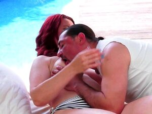Lovely grandma banged and creampied. Lovely grandma banged and creampied by the pool