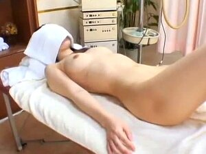 Japanese girl fucked in front of hidden cameras in a massage parlor