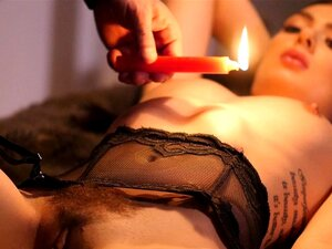 HOLED - Sultry Marley Brinx hot candle wax play and anal