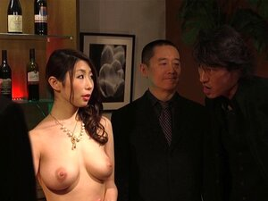 JAV wife slave auction Ayumi Shinoda CMNF ENF Subtitled. Japanese wife made to strip naked and masturbate in front of a group of mafioso as her husband looks on in shock and tries to bid her back in a JAV slave auction in HD with English subtitles