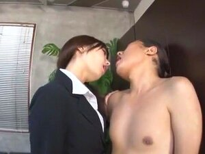 Horny Japanese model Misa Takada, Miki Araki, Ran Kayama in Exotic Secretary, Cumshots JAV movie
