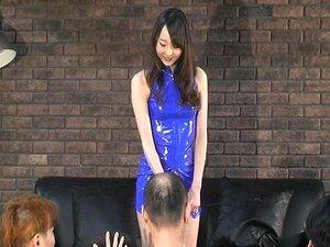 ญี่ปุ่น Risa ตบใบหน้าของทาสสามคน
