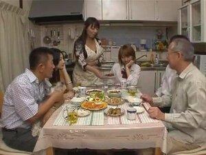 Exotic Japanese girl Aya Kiriya, Tiara Ayase, Azumi Mizushima in Crazy Group Sex, POV JAV video,
