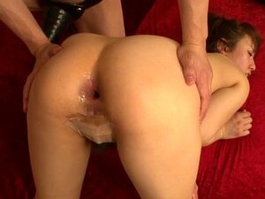 Azusa Nagasawa amazing Asian milf gets gaping anus, Azusa Nagasawa is a nasty Japanese milf. She has nice big tits that her boyfriend enjoys before he gets her ti spread her legs so he can finger her holes. He opens her asshole with his fingers and inserts a big dildo to hand fuck her gaping hole while she moans in pain and pleasure!