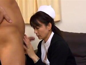 Eriko Miura wild Asian nurse is insatiable. Eriko Miura is a hot mature Asian chick who is also a wild nurse at wirk! She gets felt up by her horny doctor and is kissing him before he is licking her big tits and her wet pussy. She engulfs his cock for an excellent blowjob getting cum on her face before a doggy style fucking!