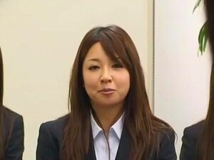 Crazy Japanese chick Ryo Asaka, Ai Naoshima, Aoi Buruma in Exotic Amateur, Office JAV scene