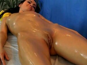 Youthful dark brown screwed during a massage. This is not just another nude massage, but an extremely hot scene with gorgeous brunette girl. She looks spectacular, has a very fit little body and lovely face. It's such a pleasure to watch her getting rubbed and fondled on the couch. But the best thing about this cute babe is that she loves anal fuck! She lets big black cock inside her asshole and obviously loves it. She moans and comes several times during one session! She will be back without doubt for more of sex massage!