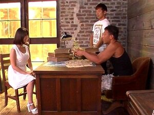 Wakaba Onoue fucked by two men in hard scenes - More at Japanesemamas com