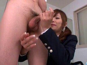 Miku Airi Asian schoolgirl blows a big dick. Miku Airi Asian schoolgirl blows a big dick