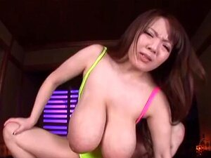 Hitomi Tanaka hot Asian milf with huge boobs in POV sex. Hitomi Tanaka is an amazing Asian babe with huge tits! She likes POV action and swallows her guy's cock before he fucks her deep cleavage and gives her a dick ride. She is a hardcore babe and likes hardcore doggy style cunt pounding for a POV cumshot!