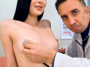 Skinny chick goes to the hospital and fucked hard by the doc. Marley Brinx has been admitted to the hospital with extreme wet pussy but luckily the doc  has the right medicine which is the power of fucking