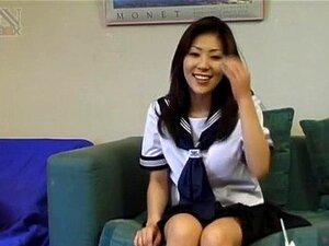Miyanaga ใจในชุดนักเรียนดูดยาก p