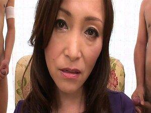 Miyama Ranko Rubs Her Pussy While Sucking Two Dicks