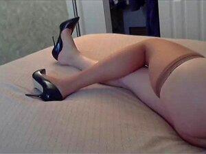 Asian Crossdresser Solo in Bed